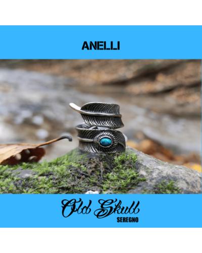 anello-piuma-azzurra-acciaio-316l-old-skull-seregno
