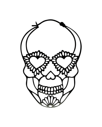 ORECCHINI-HOOPS-SUGARSKULL-ACCIAIO-NERO-old-skull-seregno