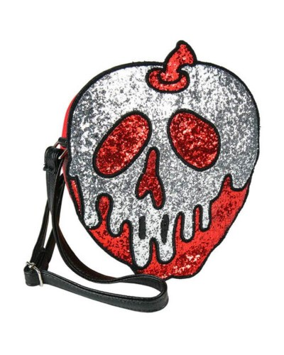 Disney-Bianca-Neve-Borsa-a-tracolla-mela-3D-originale-old-skull-seregno