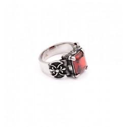 anello-pietra-rossa-acciaio-316L-old-skull-seregno