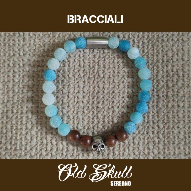 bracciale-teschio-perle-azzurre-old-skull-seregno
